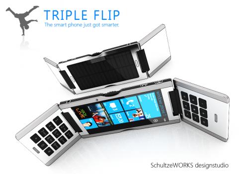Il Triple Flip : uno smartphone innovativo e multifunzionale.