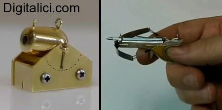Armi rimpicciolite: una balestra e un cannone in miniatura!
