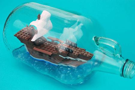 La nave LEGO imbottigliata !!