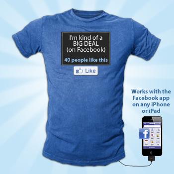 Connettiti con FaceBook anche sulla tua maglietta !!!