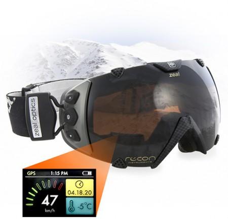 Occhiali da neve GPS con LCD interno