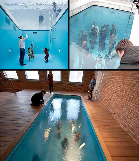 L'illusione ottica nella piscina !!