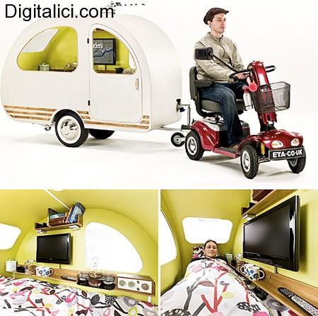 QTvan : il caravan per gli scooter