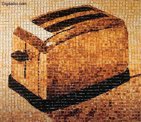 Incredible Toaster Mosaic Made from 3053 Pieces of ToastIncredibile mosaico fatto interamente da 3053 Gustosi Toast!
