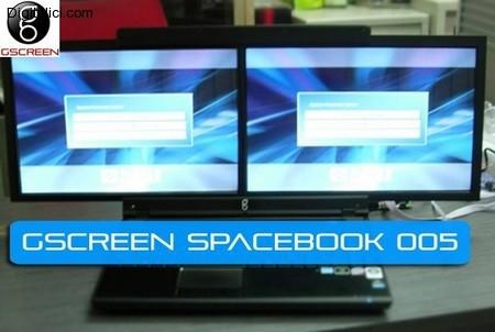 GScreen Spacebook Dual-Screen Laptop Disponibile a novembre