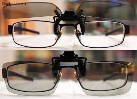 Il cinema 3D per i portatori di occhiali:LG presenta le lenti a clip