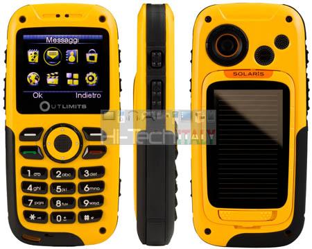 TTM Outlimits Solaris, il telefono ad energia solare