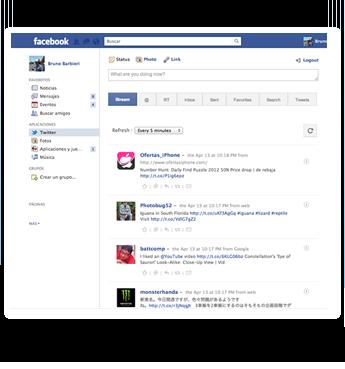 Utilizzare Twitter dentro Facebook