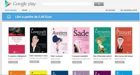Google Play, gli ebook anche in italiano