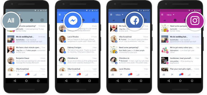 Una casella di posta unica per Facebook, Messenger e Instagram