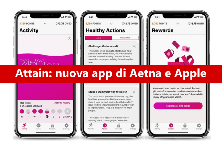 Attain: la nuova app di Aetna che ti fa vincere un Apple Watch!